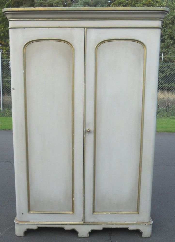 Victorian Painted Two Door Wardrobe